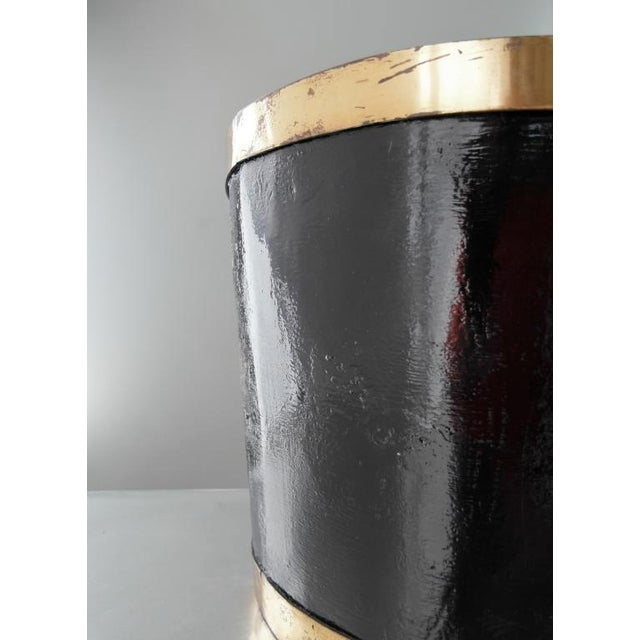 Mexican Brass and Painted Metal Bucket - Image 2 of 6