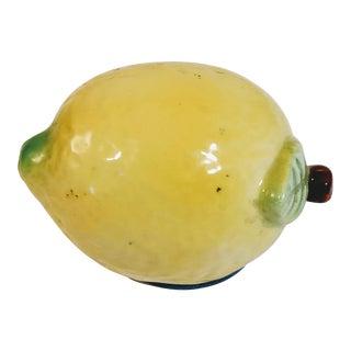 Vintage Japanese Majolica Lemon Sewing Tape Measure For Sale
