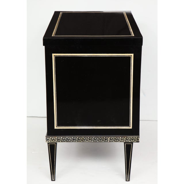 Pair of Custom Neoclassic Hand-Painted Commodes For Sale - Image 10 of 12