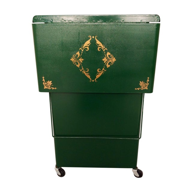 Cole Steel Green & Gold Typewriter Stand - Image 1 of 11