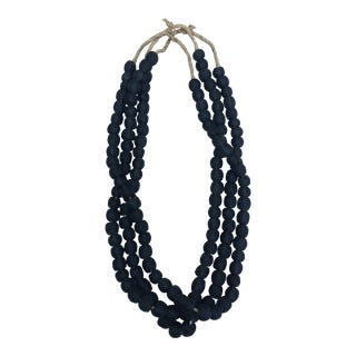 African Black Glass Beads, Set 3 For Sale