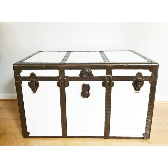 Vintage Steamer Trunk Table - Image 2 of 8