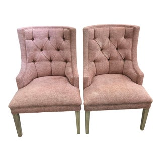 Decorators Unlimited Pink Designer Custom Chairs - a Pair For Sale