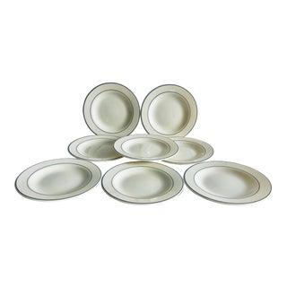 Modern Arcopal France Gastronomie Dessert/ Bread Plates 8 For Sale