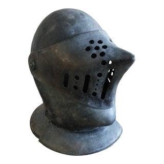 Italian Decorative Metal Knights Helmet For Sale