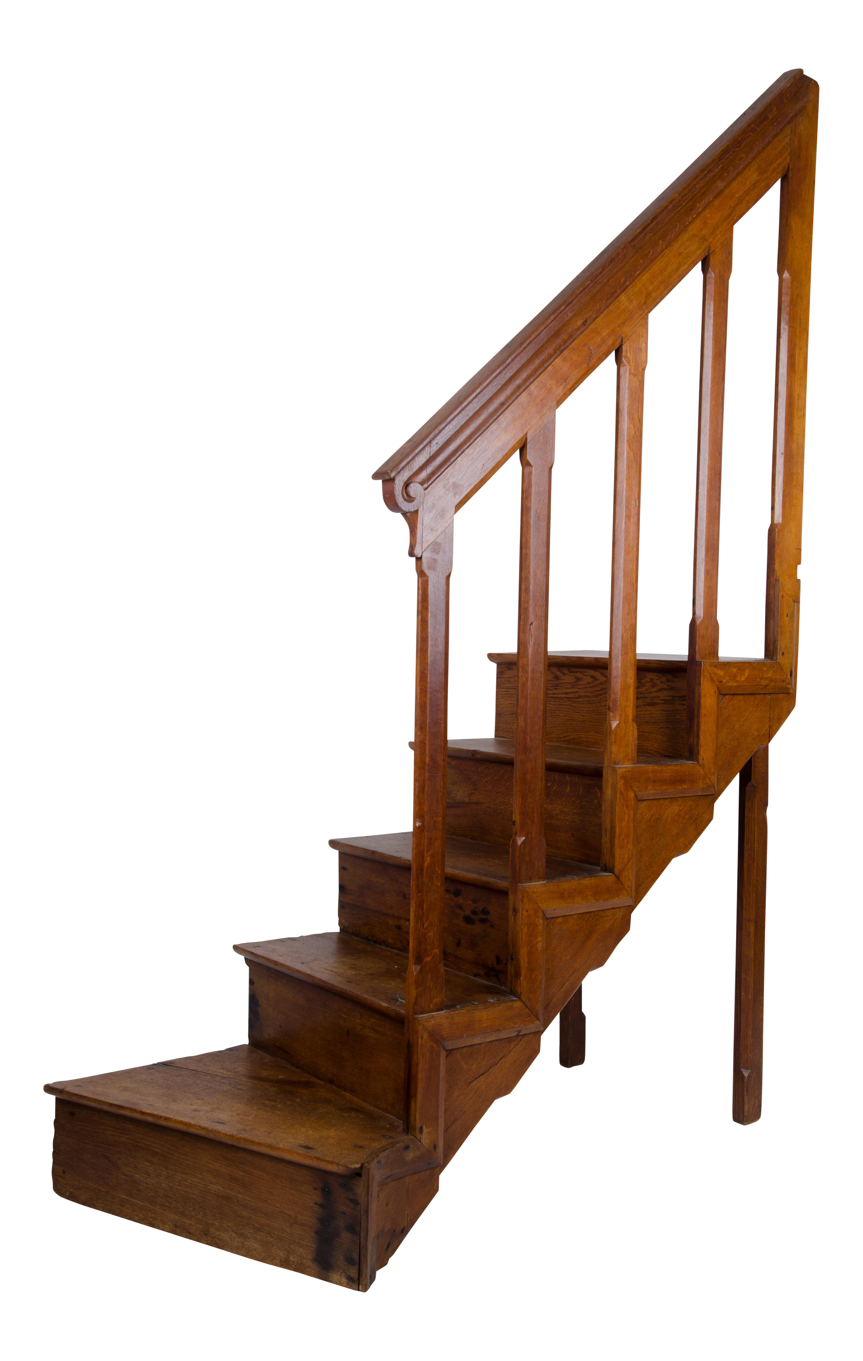 Antique English Oak Library Steps