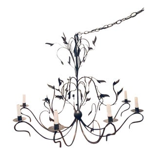Contemporary French Country Bronze Chandelier For Sale