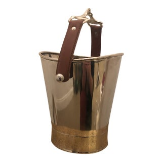 Horse Leather Strap Ice Bucket For Sale