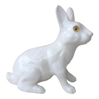 1950s Vintage French White Rabbit Figurine For Sale