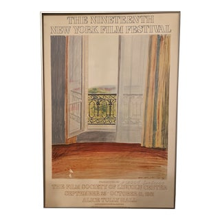 "David Hockney ""Window Grand Hotel"" Lithograph for the 19th New York Film Festival For Sale"