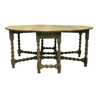 Bleached Oak Gate Leg Dining Table