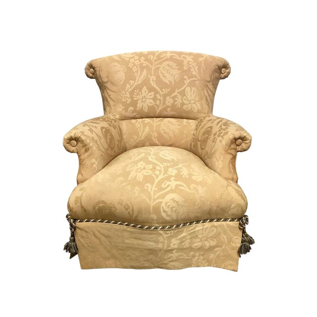 1970s Vintage Baker Furniture Wingback Ox Armchair For Sale