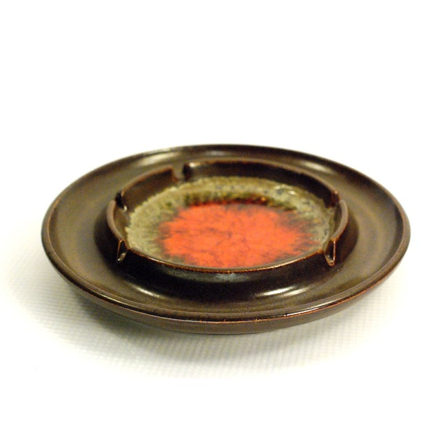 Mid-Century Robert Maxwell Blenko Glaze Ashtray For Sale In Buffalo - Image 6 of 7