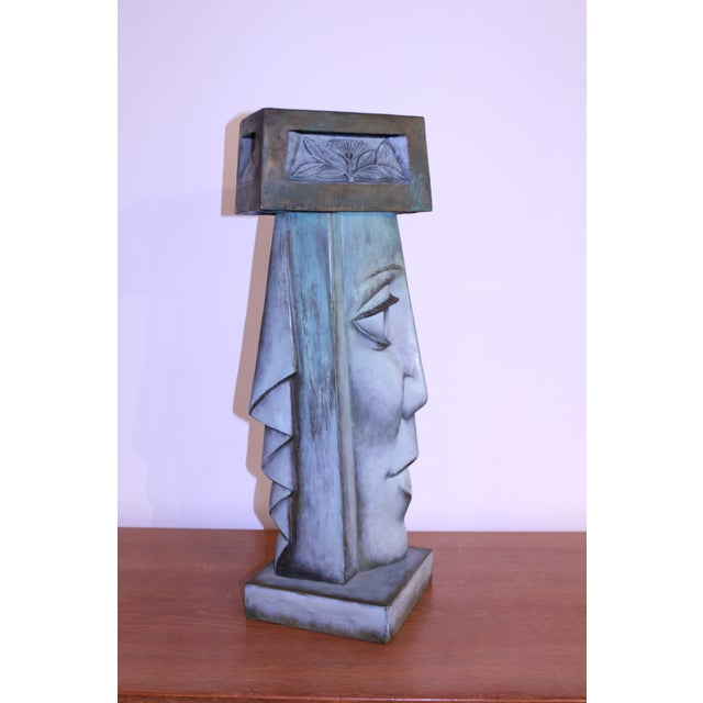 Bronze Profile Lamp For Sale - Image 4 of 5
