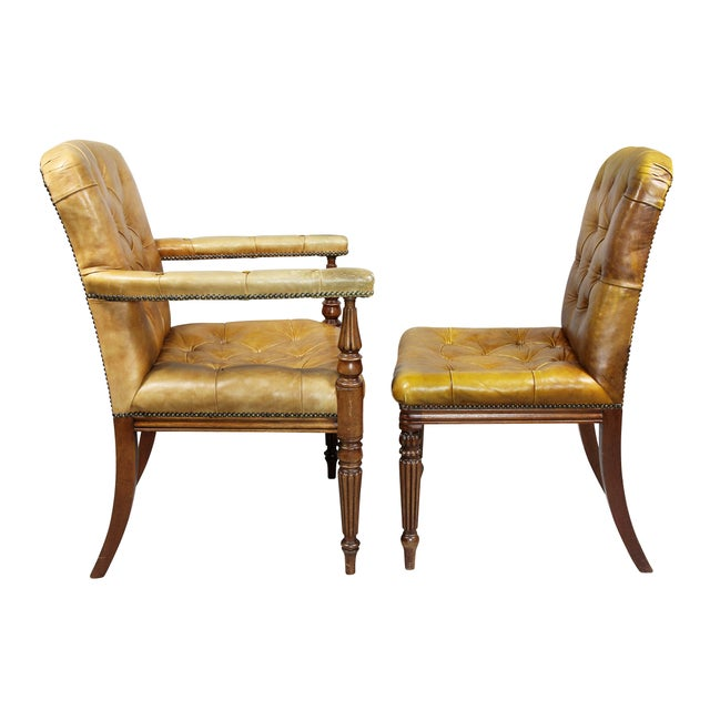 Brown Regency Style Mahogany Dining Room / Conference Room Chairs - Set of 20 For Sale - Image 8 of 11