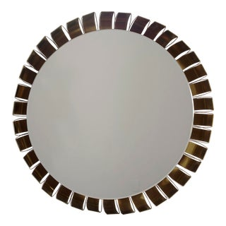 Large Mid Century Bronze Frame Back Lit Mirror For Sale