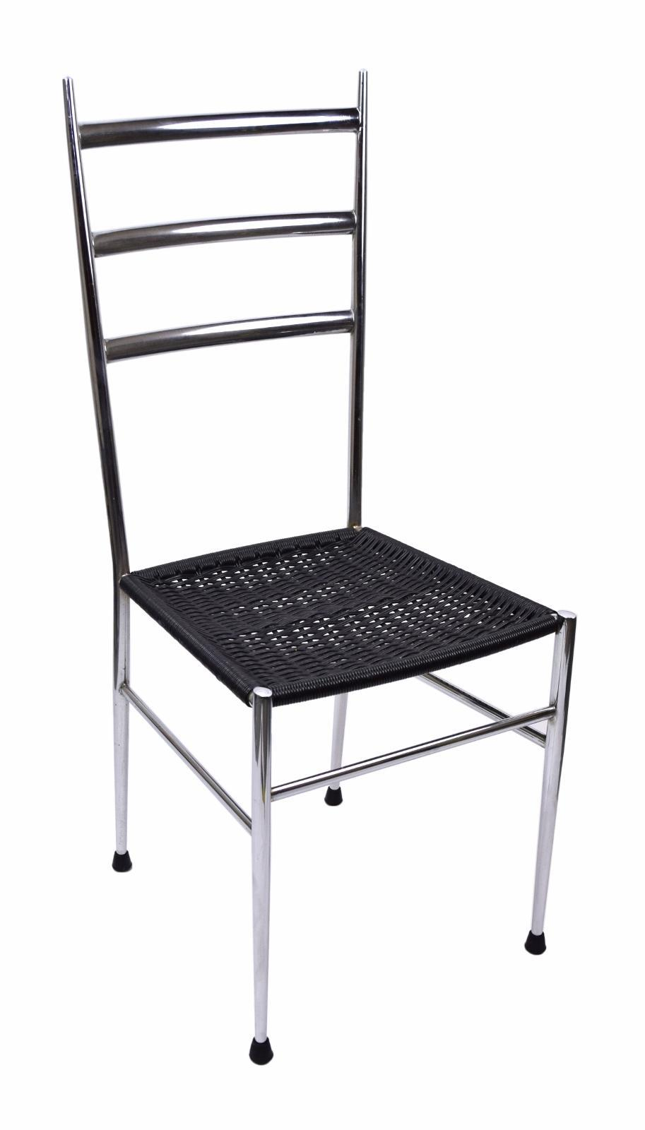 Italian Mid Century Modern Gio Ponti Style Dining Chairs   A Pair   Image 5