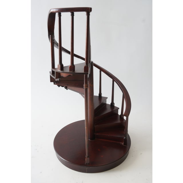 Vintage Spiral Staircase Architectural Model in Mahogany For Sale - Image 9 of 9