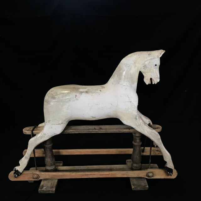 Folk Art Mid 19th Century British Carved and Painted Wood Merry-Go-Round Carousel Horse For Sale - Image 3 of 13