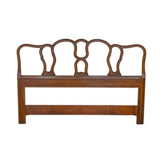 French Country Provincial Style Vintage Walnut Full or Queen Size Headboard