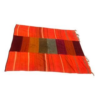 Orange Vegetable Dyed Wool Rug - 6′10″ × 8′ For Sale