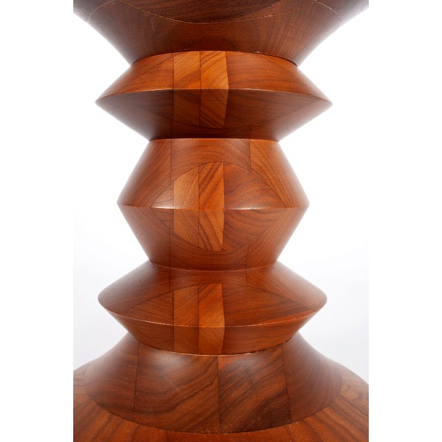 """Time Life Stool by Charles and Ray Eames for Herman Miller walnut. 15""""h. 13""""dia."""