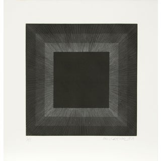 Midnight Suite (Black with Silver), Etching by Anuszkiewicz