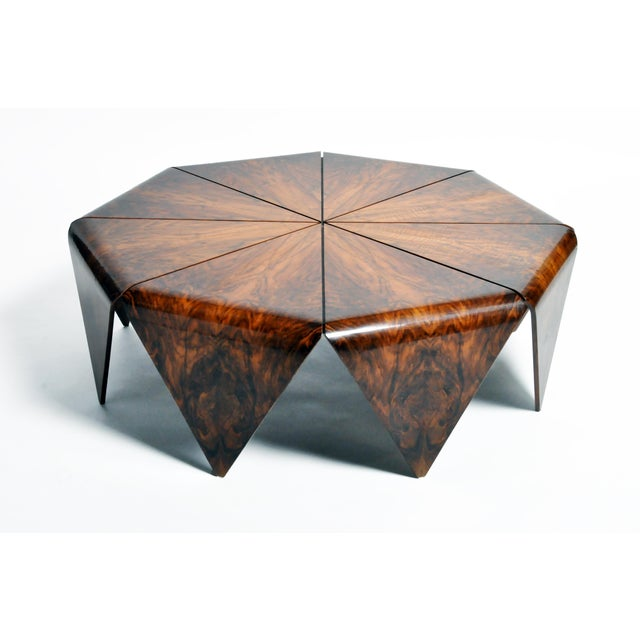 Hungarian Walnut Octagonal Coffee Table For Sale - Image 13 of 13