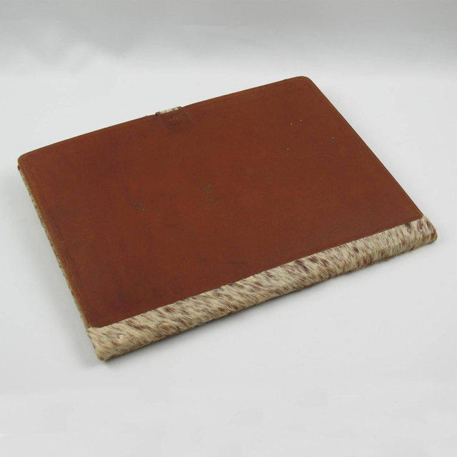 1930s French Dan Karner Art Deco Pony Skin Fur and Leather Desk Set For Sale - Image 5 of 11