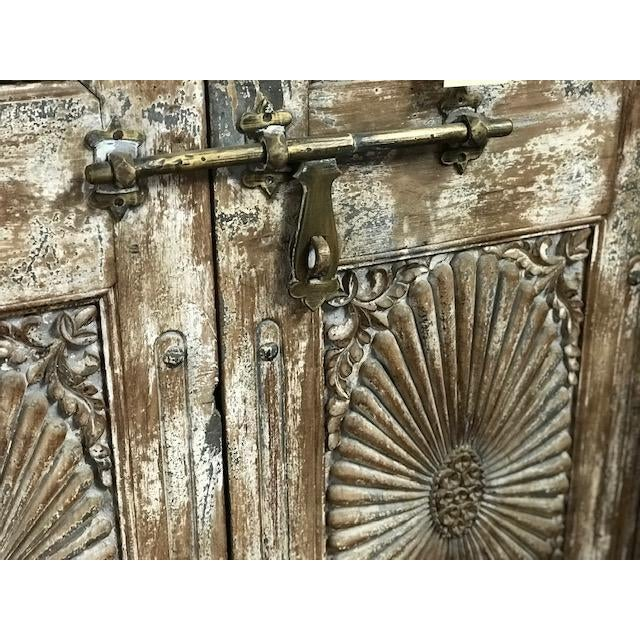 Indian Antique Indian Teak Door and Frame From a Rajasthan Haveli For Sale - Image 3 of 6
