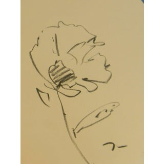 Expressionist Original Charcoal Sketch of Poppy by Jose Trujillo For Sale