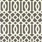 Sample - Schumacher Imperial Trellis Wallpaper in Charcoal