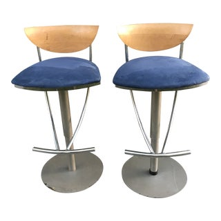 1980s Space Age Bar Stools-a Pair For Sale