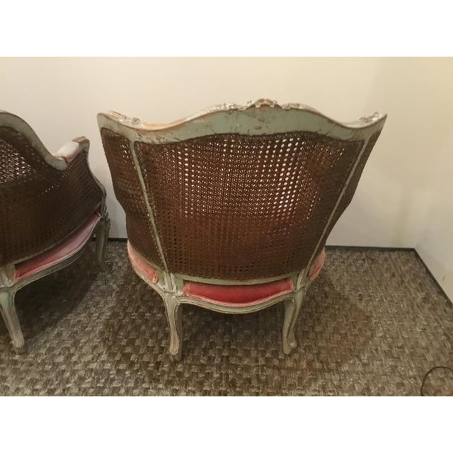 Late 18th Century French Cane Bergere Chairs- a Pair For Sale In Los Angeles - Image 6 of 13