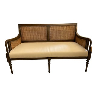 21st Century Brown Cane Settee For Sale