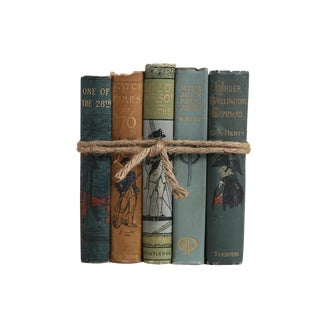 Antique Military Book Gift Set: By Land & Sea, S/5 For Sale