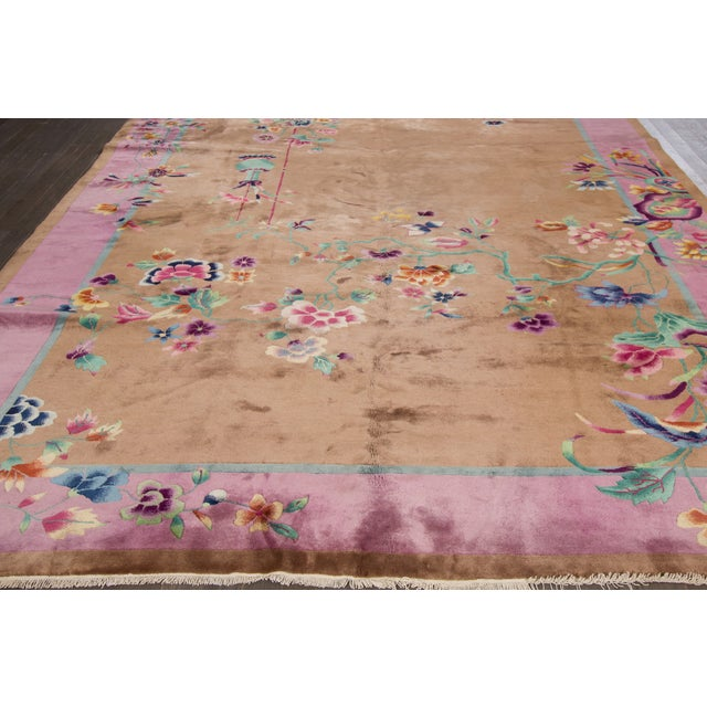 "Apadana Beige Chinese Art Deco Rug - 8'9"" X 11'6"" - Image 3 of 6"