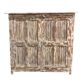 Vintage Rustic Distressed Cabinet Sideboard For Sale