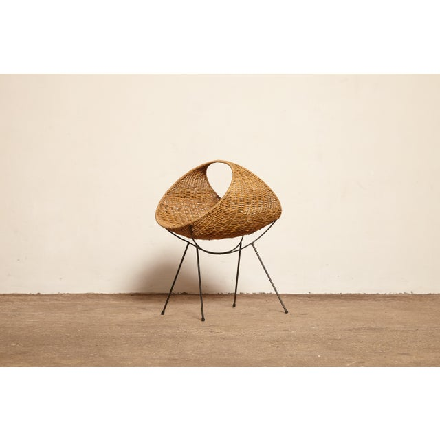 Cane Magazine Rack, Attributed to Franco Campo, Carlo Graffi, 1950s, Italy For Sale - Image 9 of 9