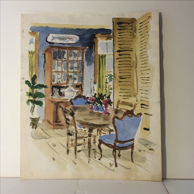 Watercolor Architectural Interior Rendering - Image 2 of 10