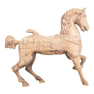 Turn of the Century Belgian Wooden Horse For Sale