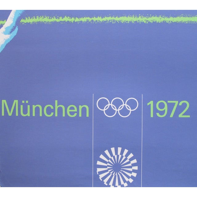 Original 1972 Munich Gymnastics Poster - Image 2 of 3