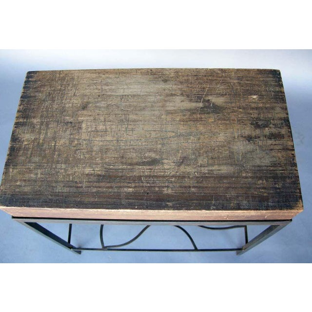 Early 20th Century Antique Japanese Storage Box On Handwrought Iron Base For Sale - Image 5 of 8