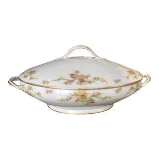 Antique Haviland Limoges China Lidded Vegetable Bowl, France For Sale