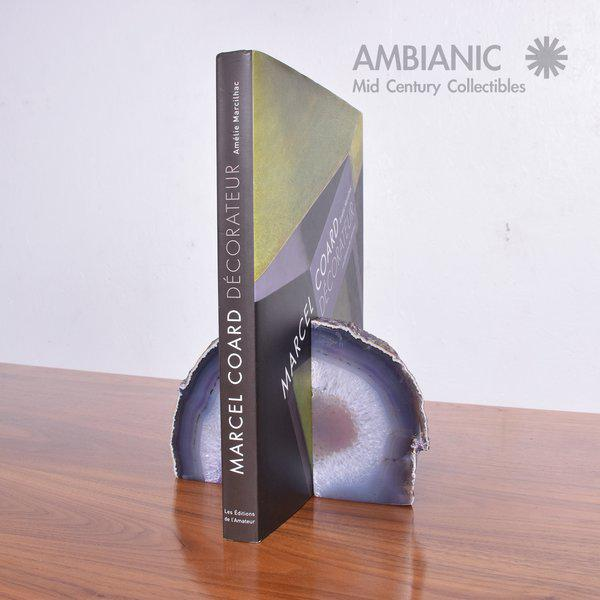 Pair of Amethyst Bookends Made in Brazil For Sale - Image 9 of 10