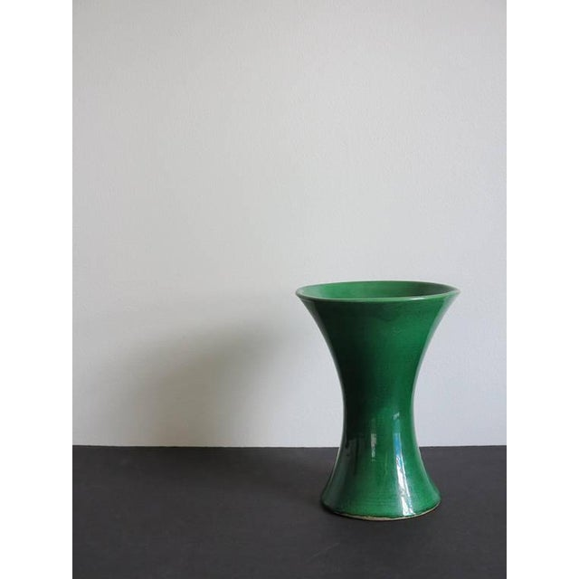 Late 19th Century Green Japanese Awaji Pottery Vase For Sale - Image 5 of 5