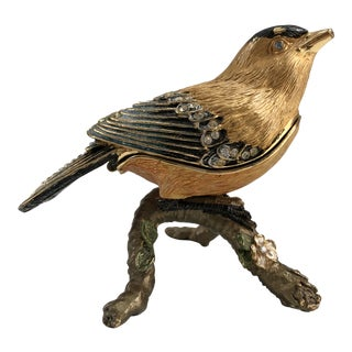 Vintage Bird of Paradise Ring Box For Sale
