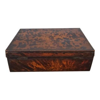 19th Century English Regency Period Decorative Box For Sale