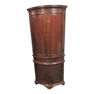 Georgian Mahogany Bowfront Corner Cabinet For Sale
