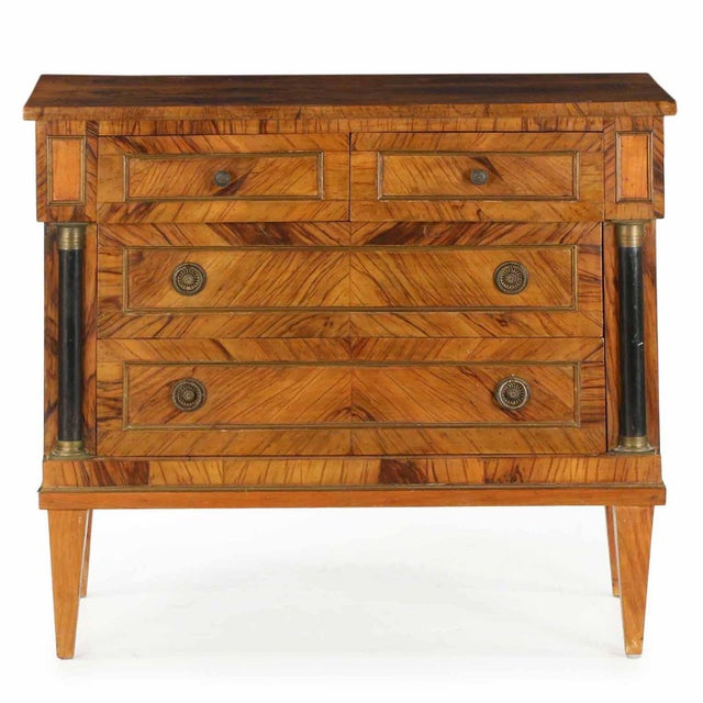 Early 20th Century Antique Empire Style Chests of Drawers - a Pair - Image 7 of 11
